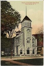 Home of the Deer Park Club in Port Jervis NY Postcard