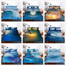 3D Ocean Wave Sunshine Comforter/Quilt/Duvet/Doona Bedding Cover Set Pillowcase
