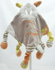 Doudou et Compagnie les bouilles de doudou mouton velours beige 31 cm