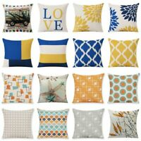 """Cotton Linen Geometry Throw Pillow Case Cushion Cover Home Sofa Decoration 18"""""""
