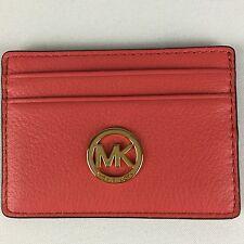Michael Kors Fulton Leather Credit Card Coin Case Holder 35H5GFTD3L