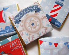 Personalised Chocolates NAUTICAL themed party favour  birthday pack of 25