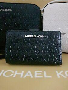 Michael kors purse wallet BLACK MD BIFOLD ZP CN VEGAN FAUX LEATHER RRP £135
