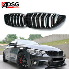 For BMW 4 F32 428i Coupe/Convertible/Gran M Style Shiny Gloss Black Front Grille