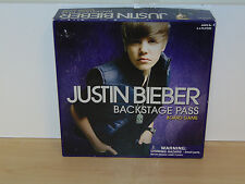 Justin Bieber Backstage Pass Board Game-Bravado 2010-Complete VG Condition