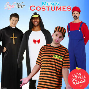 MENS PRISONER ZOMBIE VAMPIRE HERO BOYS STAG DO FANCY DRESS PARTY OUTFIT COSTUMES