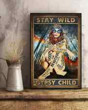 Hippie Girl Beautiful Stay Wild Gypsy Child Vintage Poster No Frame