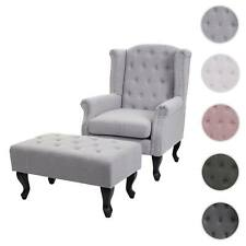 Sessel Chesterfield, Clubsessel Relaxsessel, Stoff/Textil wasserabweisend