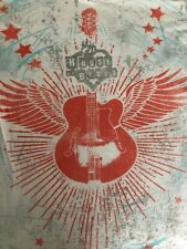 House Of Blues Angel Wings Guitar Womens Fitted T Shirt Size M