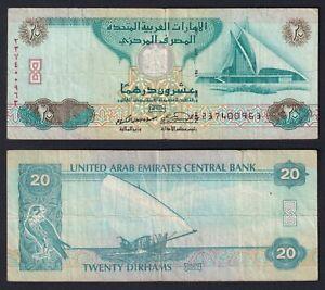 Emirati Arabi 20 dirhams 2007 BB/VF   C-07