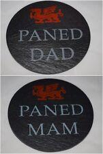 More details for welsh slate coaster paned mam  paned dad mum's / dad's tea ( cuppa) cymraeg