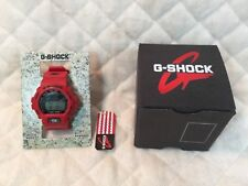 Casio G-Shock Fox Fire Watch Spiderweb Cross Skull DW-6900H-4 RED New With Tags