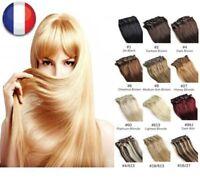 EXTENSIONS DE CHEVEUX A CLIPS REMY HAIR 46-60CM COULEURS AUX CHOIX 100% NATURELS