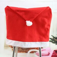 Christmas Chair Back Non-woven Santa Pattern Seat Cover Table Dining Decor Party