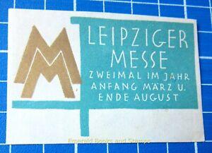 Cinderella Stamp - Germany 1940s - LEIPZIGER MESSE - c98