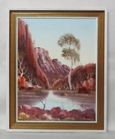 SIGNED HENK GUTH OIL PAINTING ORIGINAL FRAMED CENTRAL AUSTRALIAN LANDSCAPE