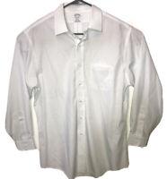 BROOKS BROTHERS Regent Non Iron Supima Cotton Dress Shirt 16.5.-33 White/ Checks