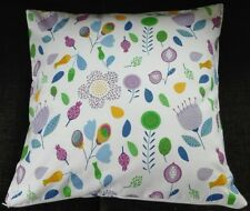 Kissenhülle, Kissenbezug 40x40 cm, Blumen, lila, Dekokissen, Handarbeit, neu