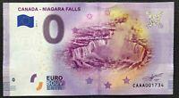 Canada Zero Euro Niagara Falls 0 € Souvenir Banknote 2019