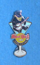 HARD ROCK CAFE 2002 Gatlinburg Martini Glass w Bear playing Banjo Pin # 15263