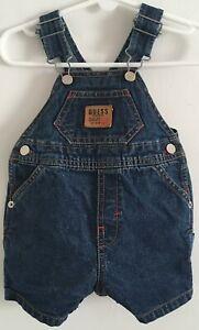 Baby Guess Workwear Bib Overall Shorts SZ 3-6 Months  Dark Blue G25