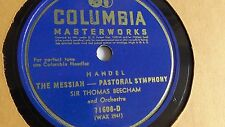 Sir Thomas Beecham - 78rpm single 12-inch – Columbia #71606-D The Messiah