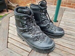 LOWA German Army SF Issue Black Leather GoreTex Vibram Boots Size 6 UK #608