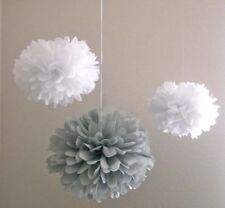 12x 25cm paper pom poms birthdy wedding anniversary party venue home decoration