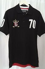 BROOKLYN XPRESS 2-Tone Short-Sleeve Polo Rugby T-Shirt Top Size S,M,L  $42.00