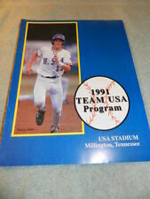 Rare 1991 Team USA Program USA Stadium Millington, Tennessee
