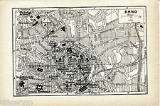 Brno 1937 kl. Stadtplan + frz. Reisef. (7 S.) Kapucinsky Spilberk Ochodakadem