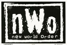 POSTER:WRESTLING: NWO LOGO - BLACK & WHITE- BLACKLIGHT & FLOCKED #1773F  RC13 E