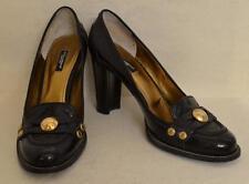 Dolce & Gabbana Black Eel Skin Pumps Loafer Shoes Size 39 - US size 9