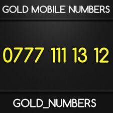 GOLD 0777 GOLDEN EASY VIP DIAMOND PLATINUM 0777 MOBILE NUMBER 07771111312