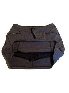Tangerine Golf Tennis Active Metro Heathered Gray Skort Zipper Pockets Size XL