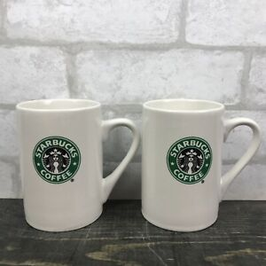 2008 Starbucks 12oz Double sided Siren Coffee Mugs Set Of 2 Great Condition