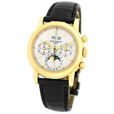 PATEK PHILIPPE 18K Yellow Gold Perpetual Calendar Chronograph 3970 Warranty BOX