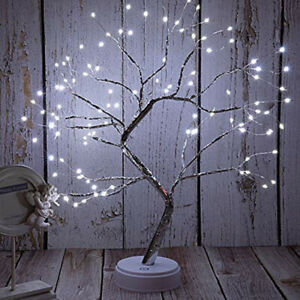 108LED Light UP LED Tree Twig Birch Branch Tree Desk Table Lamp Home Party Decor
