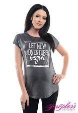 Purpless Maternity Slogan Design Boyfriend Fit Pregnancy Top Tee T-Shirt 2201