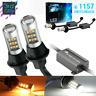 Error Free 1157 Switchback LED Turn Signal Parking DRL Light Bulbs White/Amber