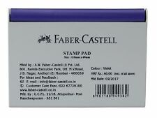 Faber-Castell Stamp Pad Violet 110 x 69 Mm -India Violet Ink Color Faber Castell