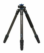 Benro GoPlus Travel FGP28C 4-Section Carbon Fibre Tripod, Black