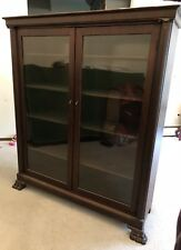 Antique Solid Wood Glass Front Display Cabinet