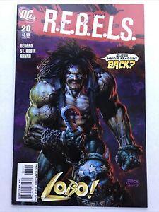 R.E.B.E.L.S. 20, DC 2010, Lobo Cover By David Finch, Rebels