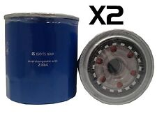2X Oil Filters Suits Z334 Toyota Landcruiser HZJ105 1998/2002 4.2L 1HZ Diesel