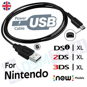 Charger Cable For Nintendo DSi / DSi XL / 3DS / 3DS XL USB Power Charging Lead