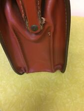 Vintage Brown Leather Briefcase – Doctor/Lawyer Style – EUC