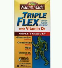 Nature Made Triple Flex Glucosamine Chondroitin With Vitamin D, 80ct (No box)