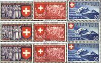 Schweiz 335-343 (kompl.Ausgabe) gestempelt 1939 Landesausstellung