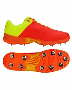 Puma 19.2 Cricket Shoes - Steel Spikes - IPL RED/YELLOW